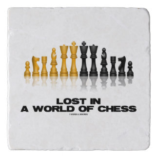 Lost In A World Of Chess Reflective Chess Set Trivet