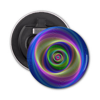 Lost in Infinity Button Bottle Opener