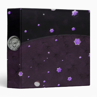 Lost in Midnight Charcoal Stars 3 Ring Binders