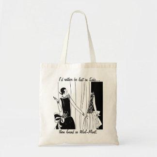 Lost in Saks Funny Tote Bag