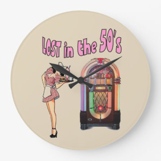 Lost in the 50's large clock