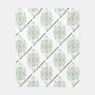 Lost In The Fifth Dimension? Geometry Cube Humor Fleece Blanket