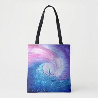 Lost in the Waves, fun sea swirl casual bag