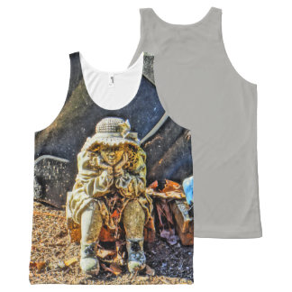 Lost in Thought All-Over-Print Tank Top