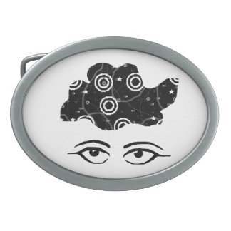 Lost in Thought Oval Belt Buckle