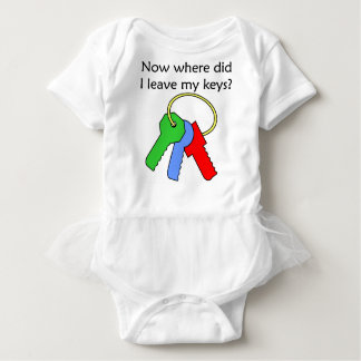 Lost keys baby bodysuit