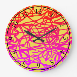Lost lines large clock