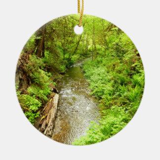 Lost Man Creek II at Redwood National Park Ceramic Ornament