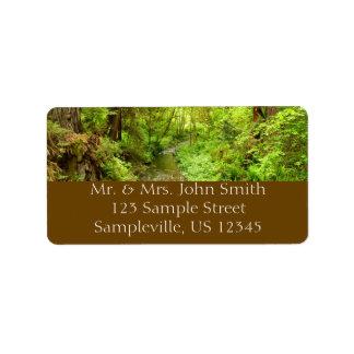 Lost Man Creek II at Redwood National Park Label