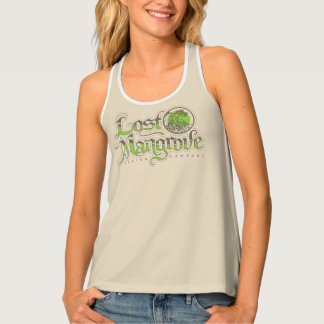 Lost Mangrove Tan Racerback Tank Top