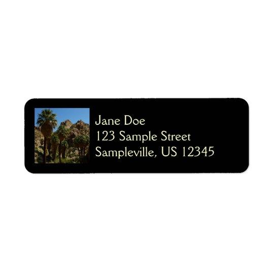 Lost Palms Oasis I at Joshua Tree National Park Return Address Label