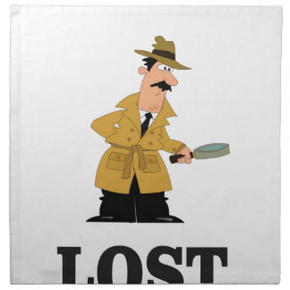lost something printed napkins