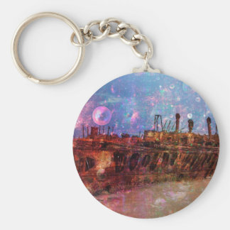 LOST TO THE RAVAGES OF TIMEship ship wreck shipwre Basic Round Button Keychain