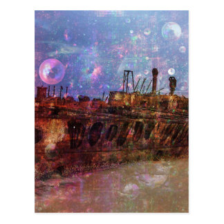 LOST TO THE RAVAGES OF TIMEship ship wreck shipwre Postcard