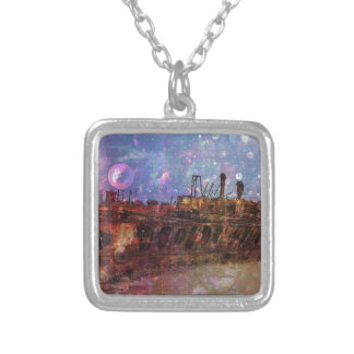LOST TO THE RAVAGES OF TIMEship ship wreck shipwre Silver Plated Necklace