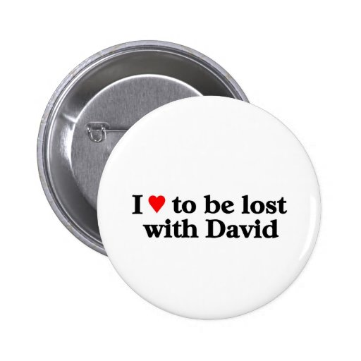 Lost with david pinback buttons