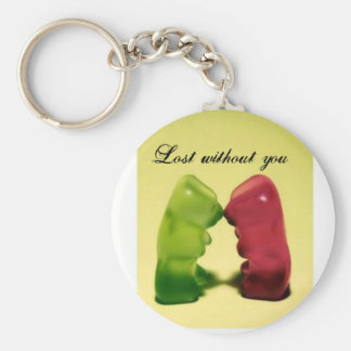 Lost without you keychain
