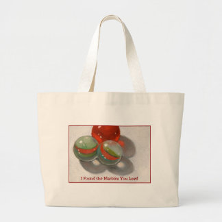 LOST YOUR MARBLES LARGE TOTE BAG