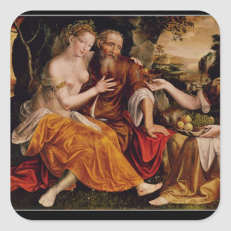 Lot and his Daughters, c.1565 Square Sticker