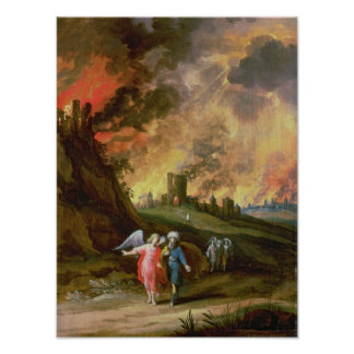 Lot and His Daughters Leaving Sodom Poster