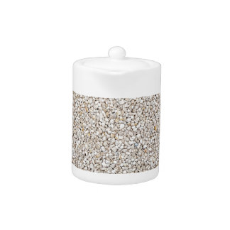 Lot of grey gravel stones as background
