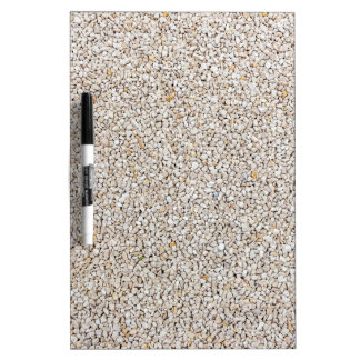 Lot of grey gravel stones as background dry erase board