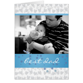 lot of hearts for best dad ever card