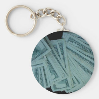 LOT OF MONEY BASIC ROUND BUTTON KEYCHAIN