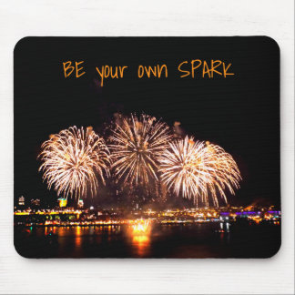Loto Quebec Fireworks and Motivational Quote Mouse Pad