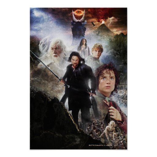 LOTR Character Collage Posters