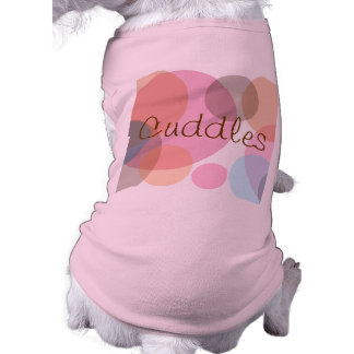 Lots O Dots Pinks and Blues Personalized Pet Cloth Shirt