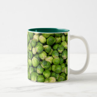 Lots of Brussels Sprouts Two-Tone Coffee Mug