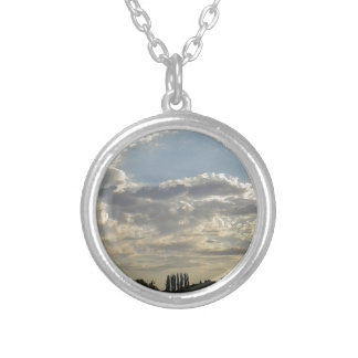 Lots Of Clouds Silver Plated Necklace