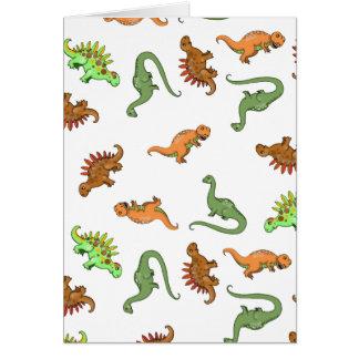 Lots of Dinosaurs Cute Blank Card