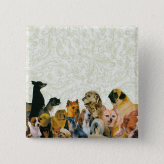 Lots of Dogs Collage button