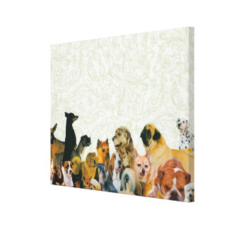 Lots of Dogs Collage Canvas Print