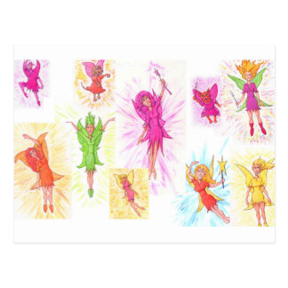 Lots of Fairies Postcard