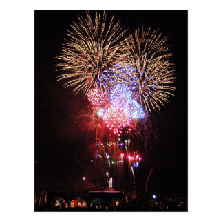 Lots of Fireworks Postcard
