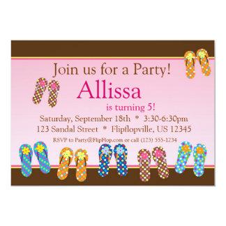 Lots of Flip Flops Birthday Invitation
