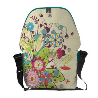 lots of flowers trendy vector commuter bag