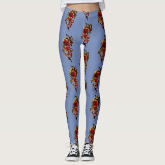 lots of gold rose leggings