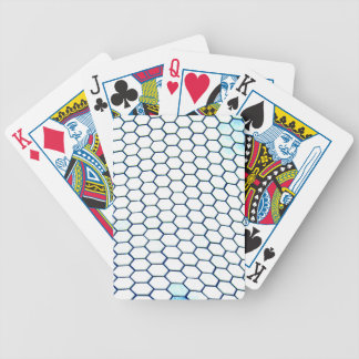 Lots of hexagons bicycle playing cards