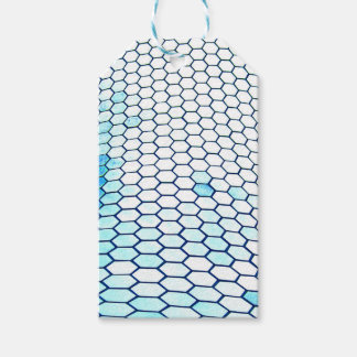 Lots of hexagons gift tags