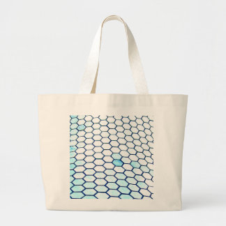 Lots of hexagons large tote bag