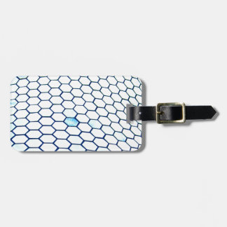 Lots of hexagons luggage tag