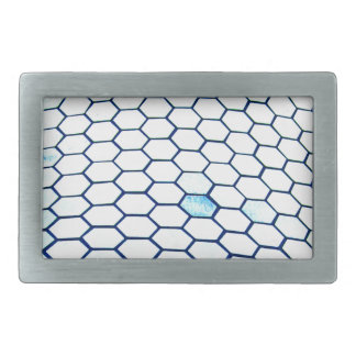 Lots of hexagons rectangular belt buckle