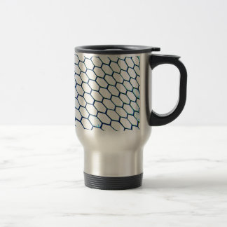 Lots of hexagons travel mug