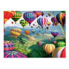 Lots Of Hot Air Balloons Postcard