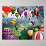Lots Of Hot Air Balloons Poster
