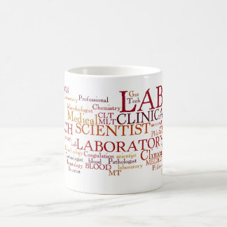 LOTS OF LABORATORY SCIENTIST WORDS COFFEE MUG